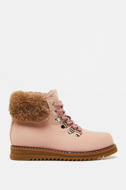 Pink Girls Artificial Fur Detailed Boots 9KBG20833OA