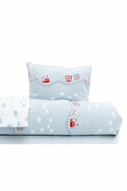 Happy Holiday Cotton Baby Duvet Cover Set 100x150 Cm Blue 10022642