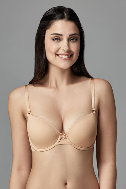 Women's Skin Elpis Almond Empty Cup Disposable Bra B0169037