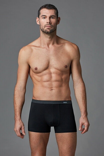 Men's Black Compact Flat Boxer E011000250