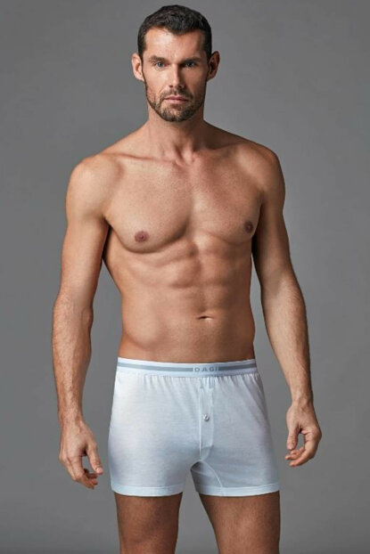Men's White Modal Boxer E011000500