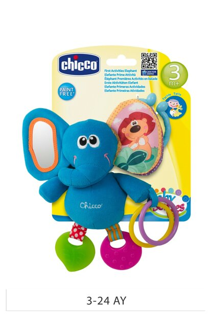 Chicco First Activity Rattle Elephant Blue / 00072375000000