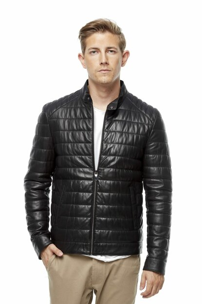 Men's Costantino Black Leather Jacket 3177