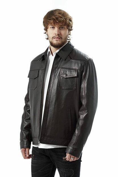 Men's Marco Brown Leather Jacket 3033