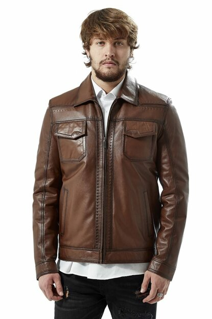 Men's Marco Taba Leather Jacket 3031