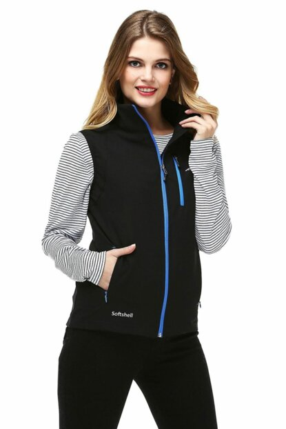 Neon Softshell Women's Vest - Blue 9643642