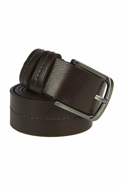 Genuine Leather Coffee Men Belt 2010043829