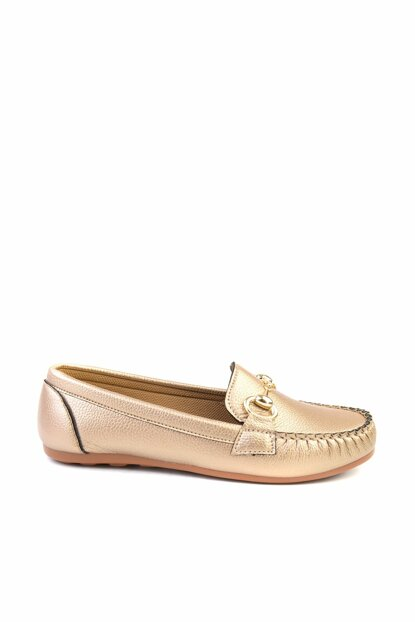 Gold Women's Loafer Shoes H0542022209