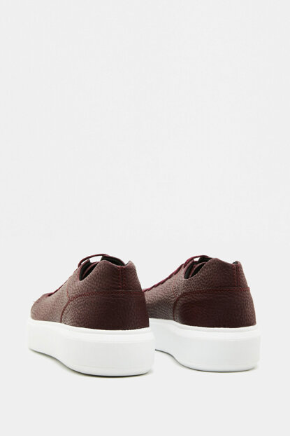 Men's Burgundy Lace-up Shoes 9KAM22007AA