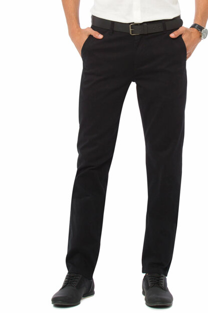 Men's Black Slim Chino Pants 7K2244Z8