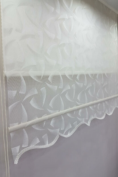 200X200 Double Mechanism Tulle Curtain and Roller Blinds MT1086 8605480864050