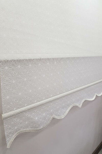 140X260 Double Mechanism Tulle Curtain and Roller Blinds MT4001 8605480985738