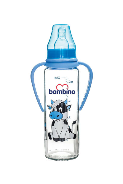 Feeding Bottle with Glass Handle 225 Ml BE 016