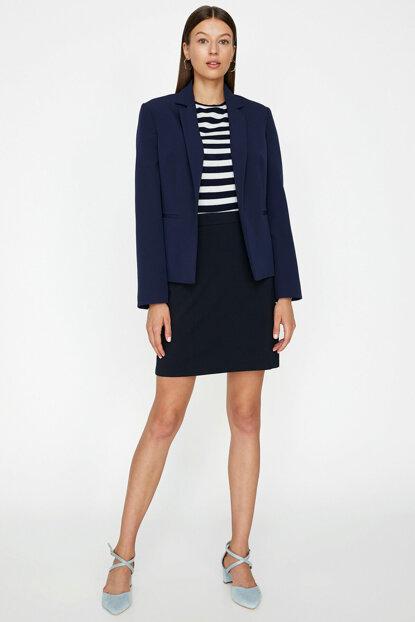 Women's Navy Blue Jacket 9KAK52720UW