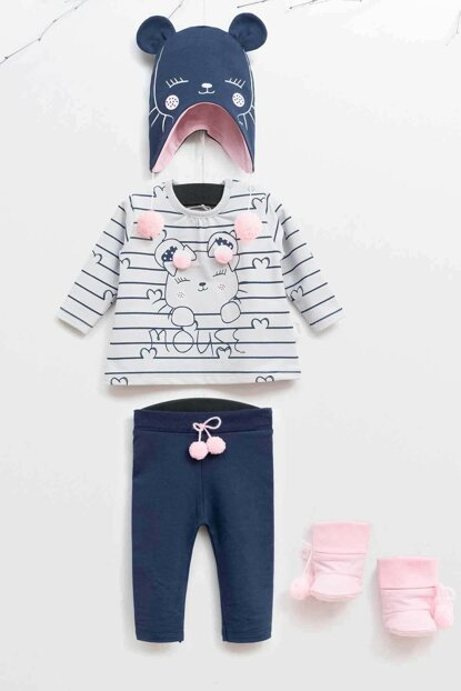 Wogi Baby Girls Top and Bottom Set 3-18 Months 5358 WG5358