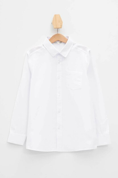 White Boy's Long Sleeve Shirt K9448A6.19AU.WT34