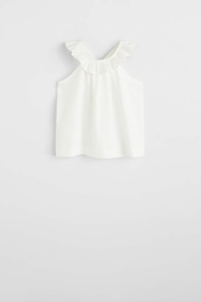 Girl's Frilly cotton top 53080691