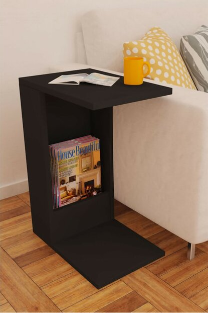 Drop Side Table Black mnlfyns004