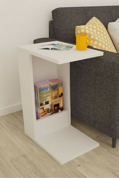 Drop Side Table White mnlfyns001