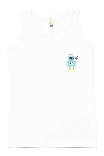 Boys' White Tank Top 31426