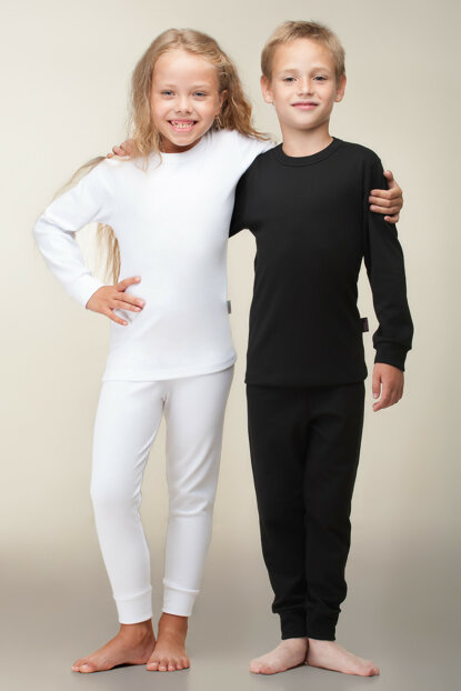 Pure Kids White Thermal Long Sleeve Underwear HZT40001