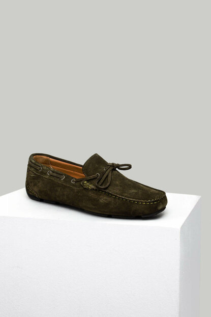 Genuine Leather Green Men Loafer Shoes 18SFD323510