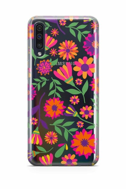 Galaxy A50 Case Silicone Back Protection Cover Patterned With Flowers mfoni_102038