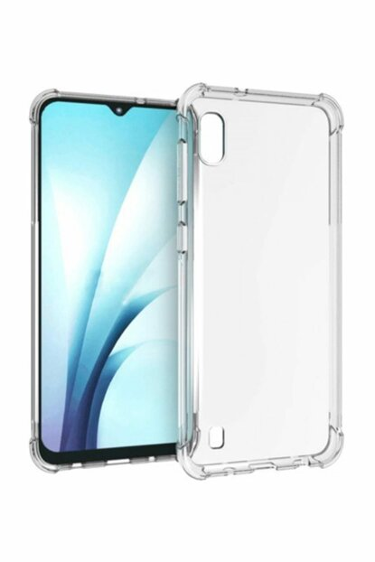 Rich Shop For Samsung Galaxy A10 Ultra Thin Transparent Airbag Anti Shock Silicone Case - And Screen Protector A10 TRANSPARENT-CAM