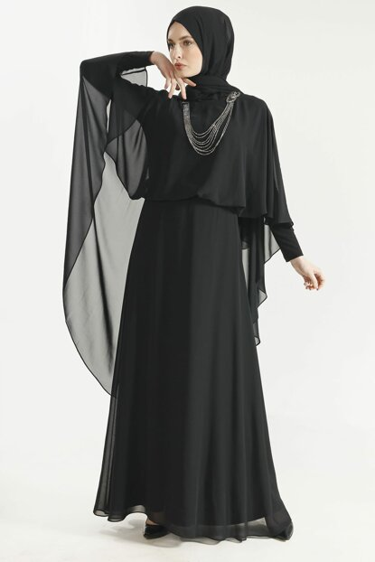 Women's Dress with Black Necklace 19Y1951