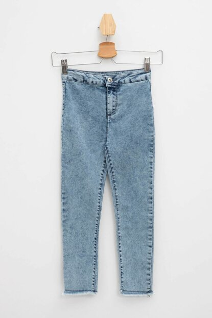 Blue High Waisted Skinny Jean Trousers L5576A6.19SM.BE469