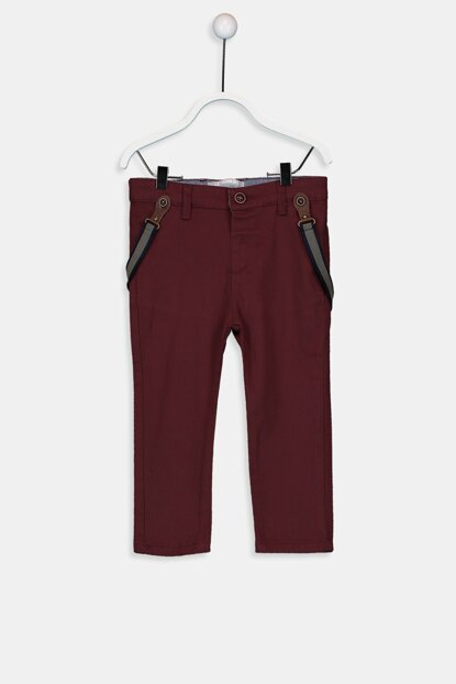Baby Boy Outdoor Navy Blue Trousers and Suspenders 9W1547Z1