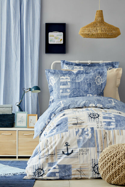 Sandes Indigo Young Duvet Cover Set 200.13.01.0090