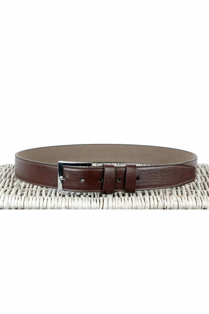 Men's Brown Leather Belt - 8Y-15400055-061