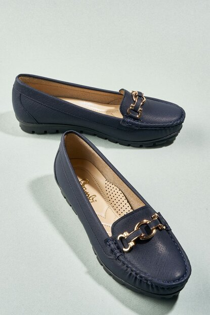 Navy Blue Women's Loafer Shoes H0645056599