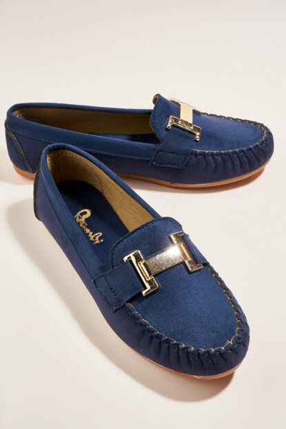 Navy Blue Women's Loafer H0542044465