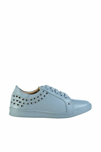 Genuine Leather Blue Women Shoes 01AYH119920