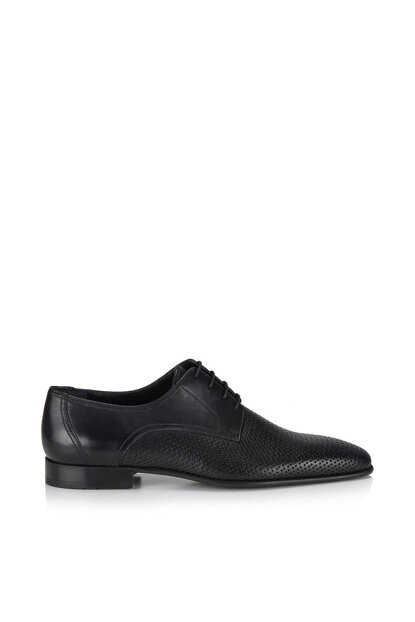 Genuine Leather Black Men Casual Shoes 02AYH117380A100