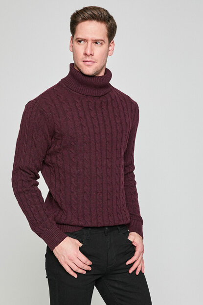 Men's Burgundy Pullover 8KAM91227NT
