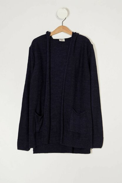 Navy Blue Boy Hooded Sweater Cardigan K8834A6.19AU.NV154