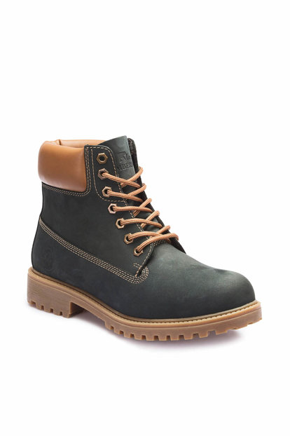 Genuine Leather Navy Blue Men's Boots A3370002 A3370002