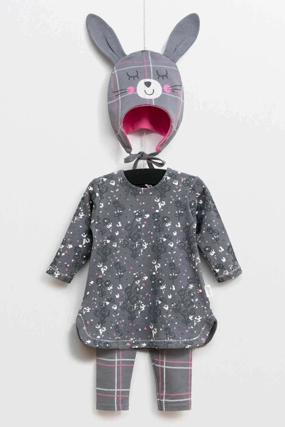Wogi Baby Girl Dress Hat Pants 3-Piece Suit 3-18 Months 5376 WG5376