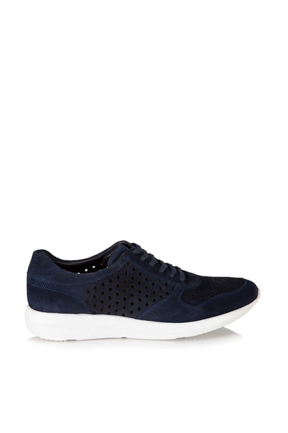 Genuine Leather Navy Blue Men's Shoes 02AYH118430A680 02AYH118430A680