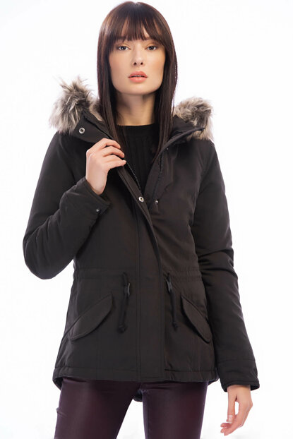 Women's Black Coat 15158948