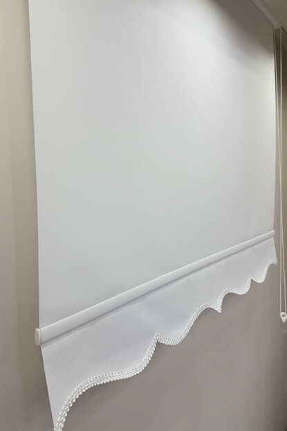 160X260 Plain White Roller Blinds MS1200 8605481020506