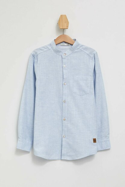 Blue Boy Judge Collar Long Sleeve Shirt K9737A6.19AU.BE196