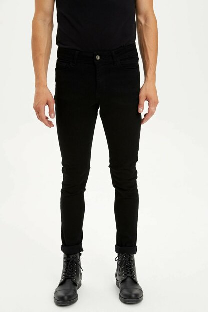 Men's Black Martin Super Skinny Fit Jean Pants L6669AZ.19AU.NM40