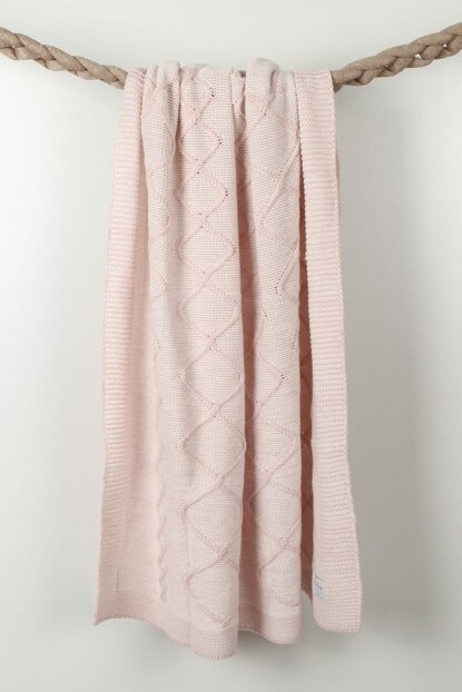 Knitted Baby blanket 90x90cm BAP17505PINK