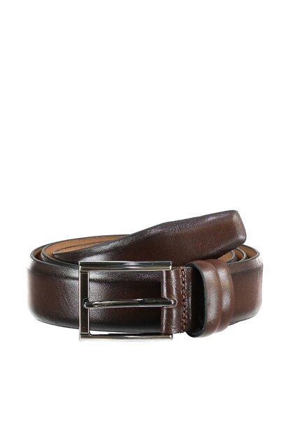 Brown Men Genuine Leather Belt TMNAW20KE0018