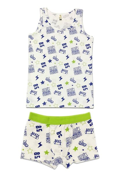 Boys Patterned Underwear Suit 31429