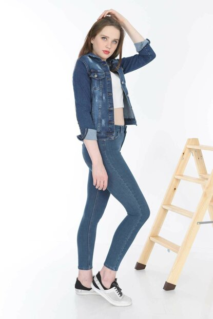 Women's Blue Denim Jacket MYN6050-01-20009